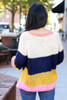 Multi - Wide Stripe Sweater Back View
