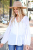 Ivory - Chiffon Button Down Top