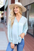 Sage - Chiffon Button Down Top