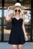 Black - Sleeveless Skater Dress