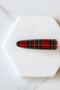 Red - Plaid Hair Clip Set from Dress Up