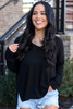 Black - Ribbed Knit Top from Dress Up