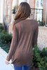 Brown - Soft Knit Babydoll Top Back View