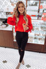 Red - Puff Sleeve Blouse