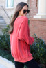 Oversized Fuzzy Knit Pullover Side View