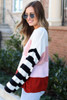 Oversized Color Block Knit Sweater Side View