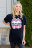 Model wearing the Black Nashville Graphic Tee in Large from Dress Up Front View