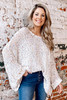 Ivory - Chenille Confetti Knit Oversized Top