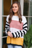 Oversized Color Block Knit Top from Dress Up Boutique