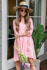 Blush - Button Front Babydoll Dress