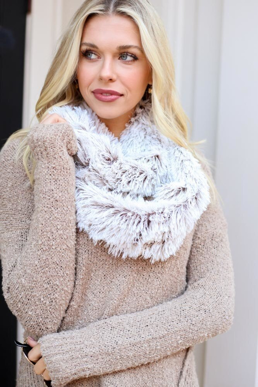 Faux Fur Infinity Scarf - Gift Idea