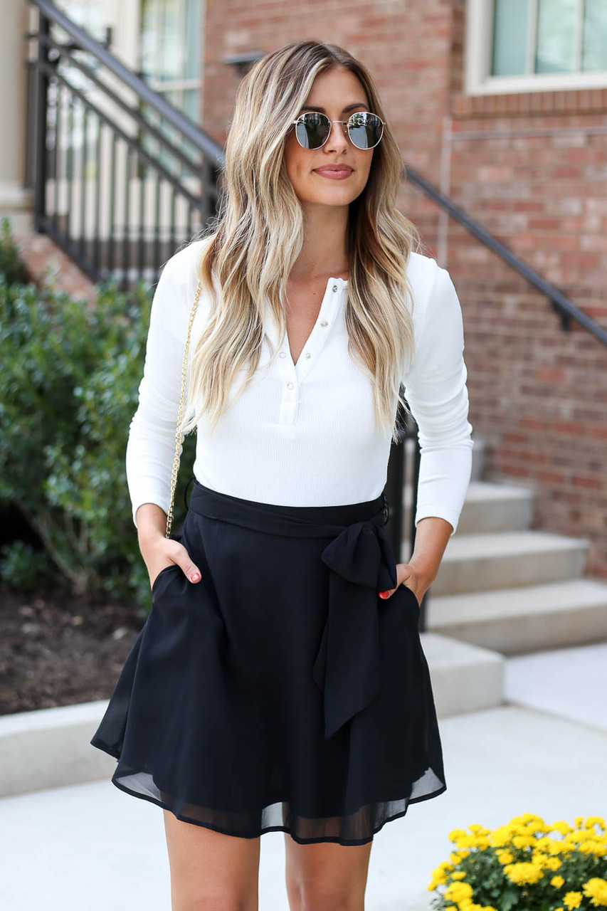 Arabella Chiffon Mini Skirt