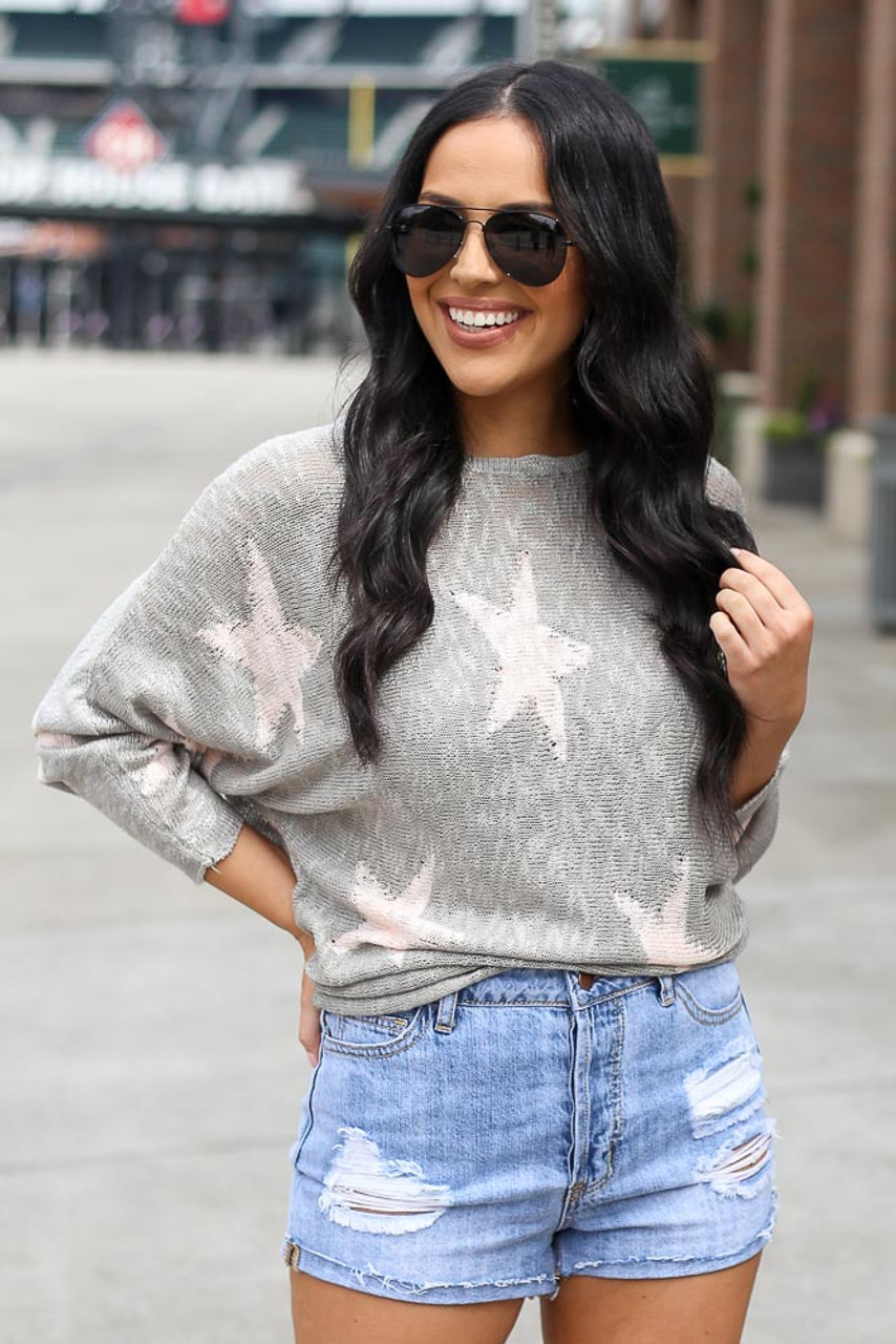 Whitney Star Lightweight Knit Top