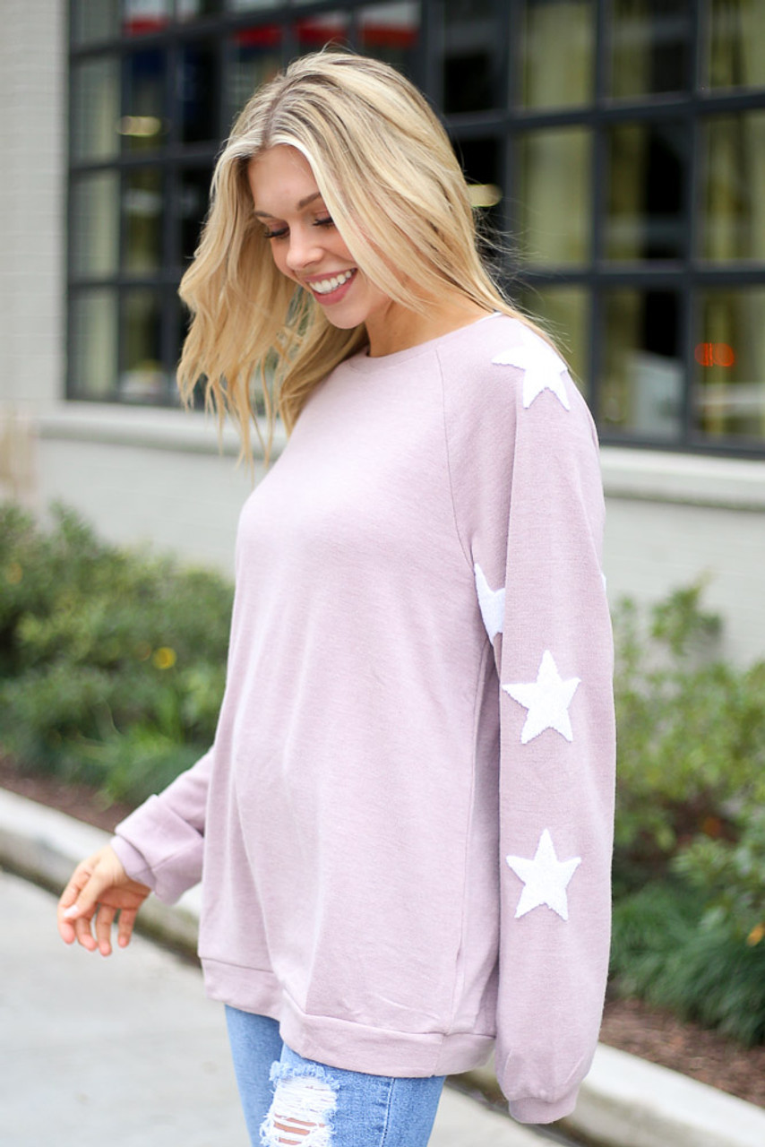 Annie Star Sleeve Oversized Pullover
