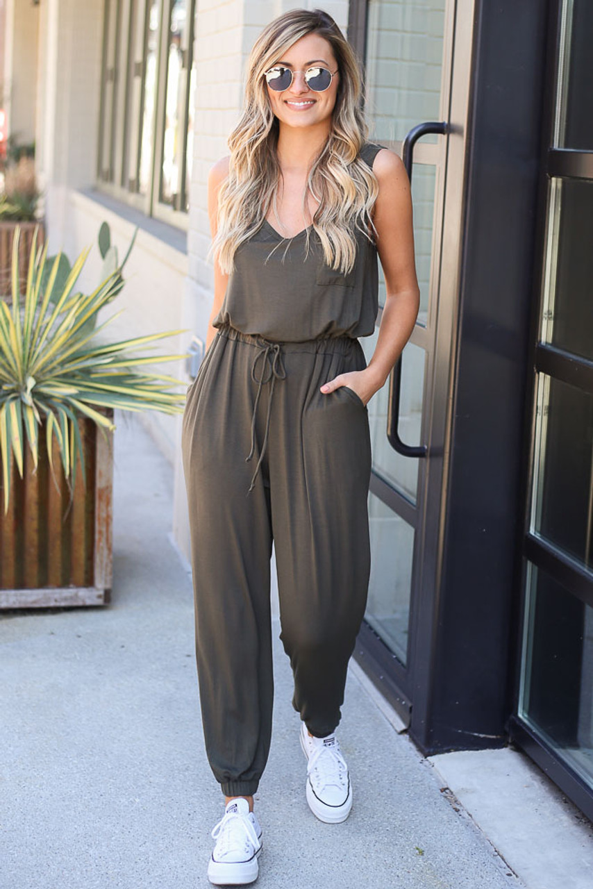 Savannah Jersey Knit Jumpsuit