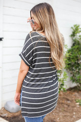 Mallory Oversized Striped Tee