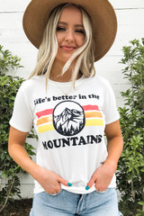 Ivory - Life's Better in the Mountains Graphic Tee Front View