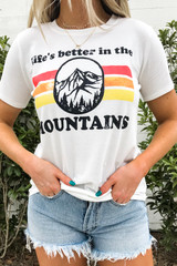Ivory - Life's Better in the Mountains Graphic Tee Detail View