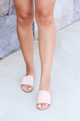 Nude - Thick Strap Slip On Sandals on Model