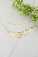 Gold - Hammered Coin Necklace