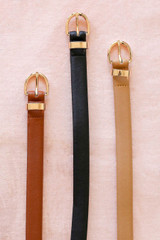 Black - All three colors available of the Dayton Skinny Belt