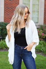 White - Lightweight Knit Cardigan