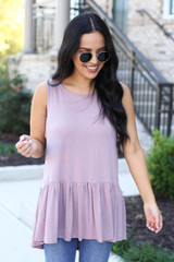 Mauve - Crochet Tank From Dress Up