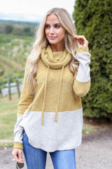 Lime - Cowl Neck French Terry Pullover from Dress Up