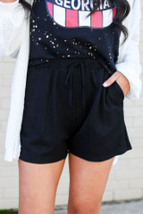 Kourtney Mid-Rise Pocketed Shorts