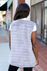 Grey - Luxe Faux Fur Vest from Dress Up