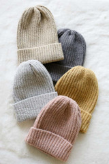 Taupe - Ribbed Beanie from Dress Up