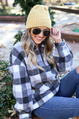 Mustard - Ribbed Beanie from Dress up Boutique