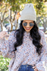 Charcoal - Ribbed Beanie from Dress up Boutique