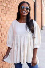 Ivory - Tiered Babydoll Tunic from Dress Up