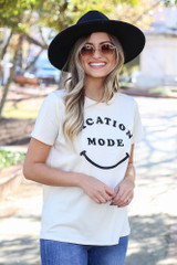Dress Up Model wearing the Vacay Mode Graphic Tee - Front View