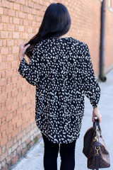 Black - Spotted Blouse Back View