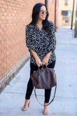 Black - Spotted Blouse Full View