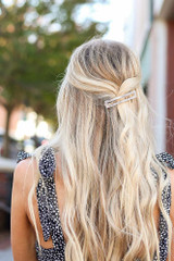 Grey - Marble Hair Clip from Dress Up