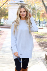 Denim - Brushed Knit Pocketed Sweater from Dress Up