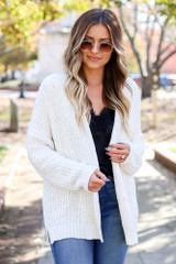 Ivory - Luxe Chenille Cardigan