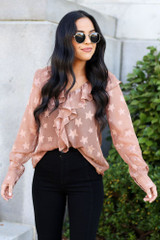 Model wearing the Star Flutter Blouse from Dress Up - Front View