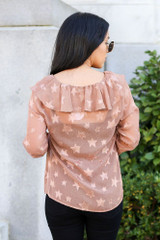 Model wearing the Star Flutter Blouse from Dress Up - Back View