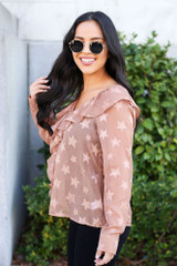 Model wearing the Star Flutter Blouse from Dress Up - Side View