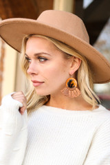 Rust - Tassel Statement Earrings