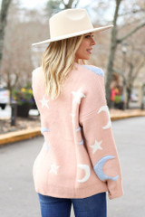 Blush - Moon + Star Knit Sweater from Dress Up