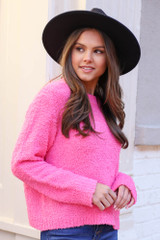 Neon Pink - Fuzzy Knit Sweater from Dress Up