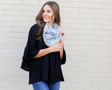 Black - Faux Fur Infinity Scarf from Dress Up