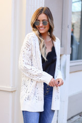 Ivory - Knit Chenille Cardigan from Dress Up