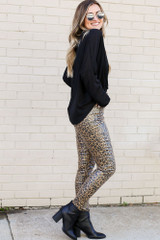 Leopard Coated Mid-Rise Skinny Jeans Side View