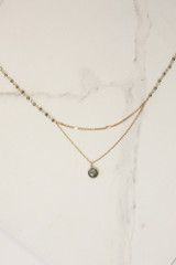 Grey - Layered Pendant Necklace from Dress Up